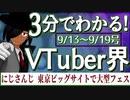 【9/13~9/19】3分でわかる!今週のVTuber界【佐藤ホームズの調査レポート】