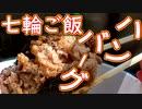 【七輪ご飯】ハンバーグ・豚の味噌漬け