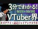 【9/27~10/3】3分でわかる!今週のVTuber界【佐藤ホームズの調査レポート】