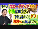 #798 日テレ「ウエークアップぷらす」にて辛坊治郎「何を訴えてもダメ」。58%が期待しない合流新党、だよね|みやわきチャンネル(仮)#938Restart798