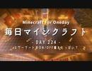 毎日マインクラフト -Day224- ネザーゲートのON/OFF壊れたっぽい?