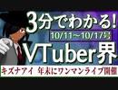 【10/11~10/17】3分でわかる!今週のVTuber界【佐藤ホームズの調査レポート】