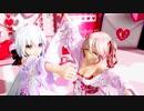 MMD【ポジティブ☆ダンスタイム】Tda式 弱音ハク 重音テト kimono style【Ray】【N3】