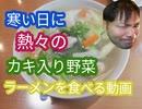 【ASMR】寒い日に熱々のカキ入り野菜ラーメン食べる動画【飯テロ】