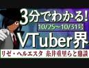 【10/25~10/31】3分でわかる!今週のVTuber界【佐藤ホームズの調査レポート】