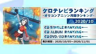 アニソンランキング 2020年10月【ケロテレビランキング】