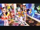 晴れ着バージョンのレーシングミクさんとマジカルミライリンちゃんが踊る恐竜さんを踊ります