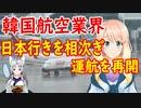 【韓国の反応】韓国の航空業界が日本行きの飛行機の運航を相次ぎ再開【世界の〇〇にゅーす】