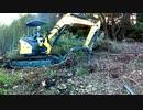 ユンボのお仕事!短期現場(密林の伐開④)