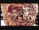 【鬼滅の刃】光の反射を利用して耳かきで毛布に『竈門 炭治郎_ヒノカミ神楽』描いてみた 【ブランケットアート】