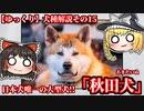 【ゆっくり犬種解説】その15「秋田犬」前編