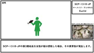 【ゆっくり紹介】SCP-1318-JP【マーメイド・アニサキス】