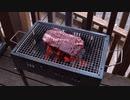 【キャンプ】大分前の家族のみにキャンプ!コンロで肉厚ステーキを焼いて食べる!!