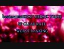 beatmaniaIIDX27 HEROIC VERSE SP LEVEL1-12 CLEAR RATE WORST10(1/2)