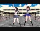 【MMD】なっちゃんと美幸ちゃんで学校に凸撃だWAA!!!!