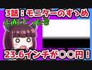 【解説/考察】(3)モニターのすゝめ、23.6インチが○○円!?【教えて!きりたん】