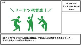 【ゆっくり紹介】SCP-4759【ドーナツ税に抗う者】