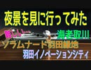 夜景を見に行ってみた(海老取川・ソラムナード羽田緑地・羽田イノベーションシティ)2021年1月