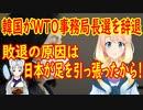 【韓国の反応】韓国が遂にWTO事務局長選で辞退を決定!敗因はやっぱり日本【世界の〇〇にゅーす】