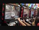 【ゲームセンター】湾岸MID NIGHT マキシマムチューン6のゲームに挑戦するあい❤ハンドル切りすぎ、壁に当たりすぎwww