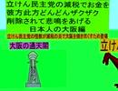 立憲民主党の減税で彼方此方どんどんザクザクお金を削除されて悲鳴をあげる日本人の大阪編