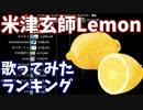 「Lemon」歌ってみた 再生回数ランキングの推移 18年2月-21年2月【米津玄師】