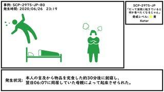 【ゆっくり紹介】SCP-2975-JP【「だって深夜に起きていると何か食べたくなるじゃん」】