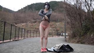 妊婦さんの野外露出イメージビデオ