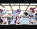 【東方MMD】レミリア・パチュリー・小悪魔で「HurlyBurly」1080P
