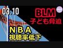 NBA視聴者数減少/(1:15~)BLMがチアリーディング大会で子どもたちを脅迫