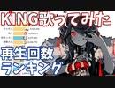 「KING」歌ってみた 再生回数ランキングの推移 20年8月-21年3月【Kanaria】