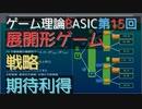 ゲーム理論BASIC 第15回 -展開形ゲームにおける戦略と期待利得-