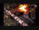 全長1mの炭火豚バラ串を作ってみた