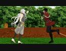 【MMD刀剣乱舞】兼さんと小狐丸が畑弄りに飽きたようです