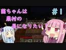 【Minecraft】茜ちゃんは農村の長になりたい! Part1【A.I.VOICE】