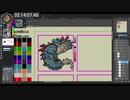海竜ラギアクルスのポケモン風ドット絵タイムラプス / Lagiacrus Pokemon style Sprite Timelapse