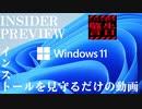 非対応CPU / Windows 11 Insider Preview のインストールを見るだけの動画
