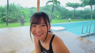 【競泳水着】雨の中、ずぶ濡れ撮影!in沖縄