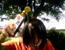 暑いので、頭からジュースなどかぶってみた