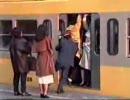 1991年の西武線通勤ラッシュ
