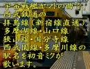 初音ミクが宇宙戦艦ヤマトの曲で西武鉄道の駅名を歌いました。