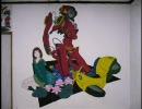 部屋の壁にフリクリを描いてみた