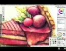 赤いタルトを2時間以内で描いてみた【当社比5倍速】 thumbnail