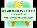 週刊VOCALOID-PVランキング ~2008年9月14日