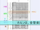 【ニコニコ動画】よくわかるオーケストラ/2.スコアリーディングを解析してみた