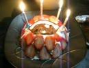 【ニコニコ動画】【4匹と独りキッチン】ローストチキン&クリスマスケーキを解析してみた