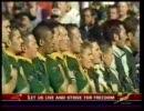 南アフリカ - ニュージーランド 試合前国歌