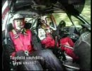 WRC 三菱ランサーWRC05試乗 リポーター逝きかけ