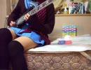 バレンタイン過ぎたけど俺の嫁に「炉心融解」のベースを弾かせてみた thumbnail