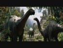 映画『キングコング』草食恐竜暴走シーン